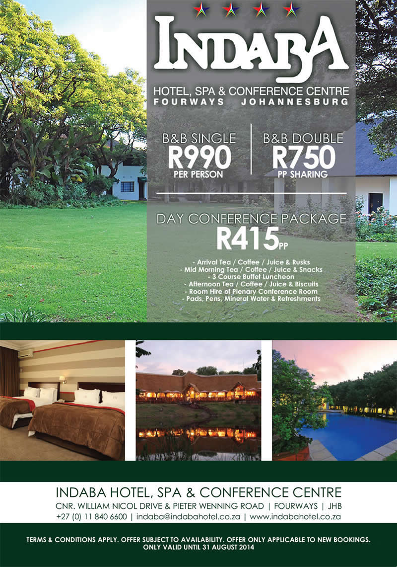The indaba hotel conference centre spa winter for Special hotels